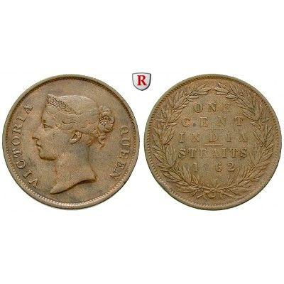 Straits Settlements, Victoria, Cent 1862, ss: Victoria 1837-1901. Kupfer-Cent 1862. KM 6; sehr schön, Rdf. 35,00€ #coins