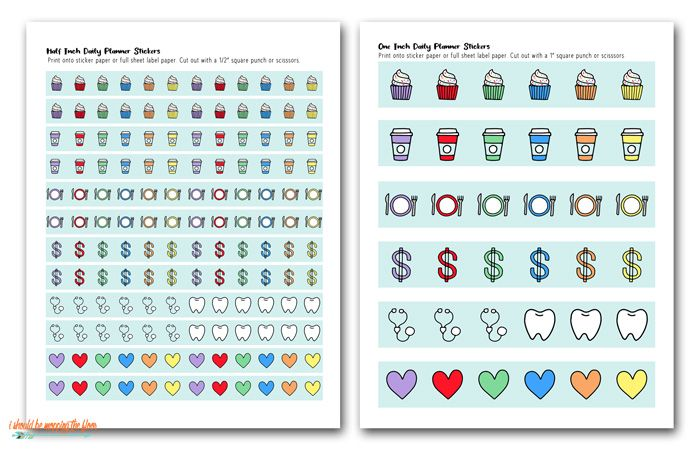 Free Printable Planner Stickers I Should Be Mopping The Floor