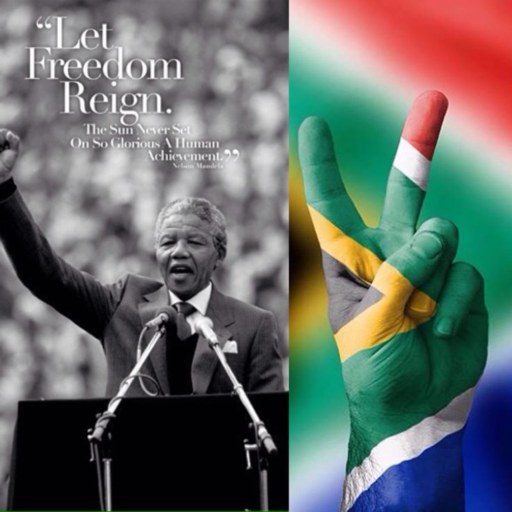"""""""Never, never and never again..."""" Happy Freedom Day South Africa!"""