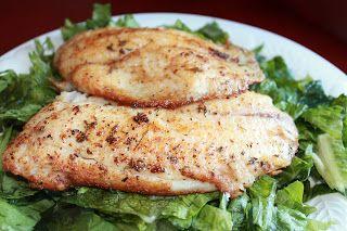 Sandy's Kitchen: Pan Seared Cajun Tilapia
