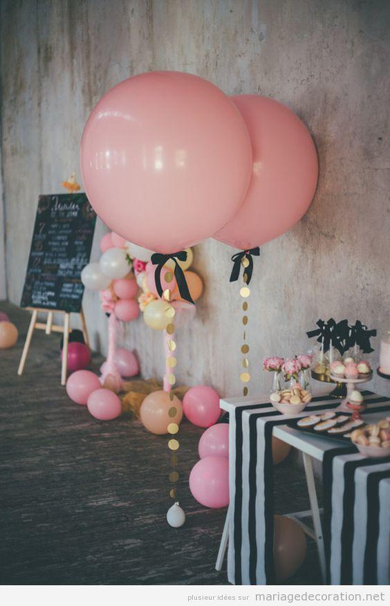 Idées décorer candy bar mariage avec des ballons de hélium