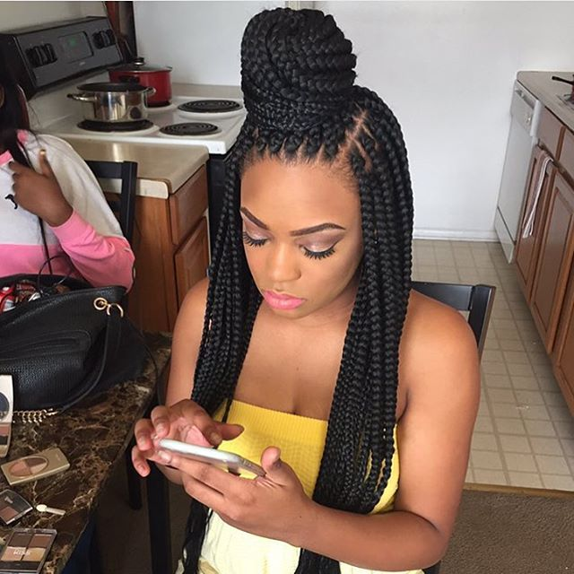 I just love @touchedbykay_'s work! Another great hair stylist/braider, based out of Detroit! I only recommend the best! #braids #boxbraids #bestboxbraids