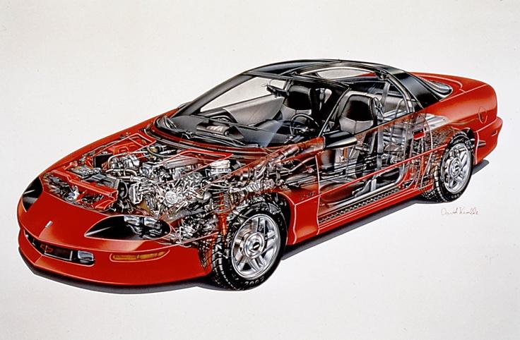 1993 Chevrolet Camaro Z28 Coupe cutaway Chevrolet camaro
