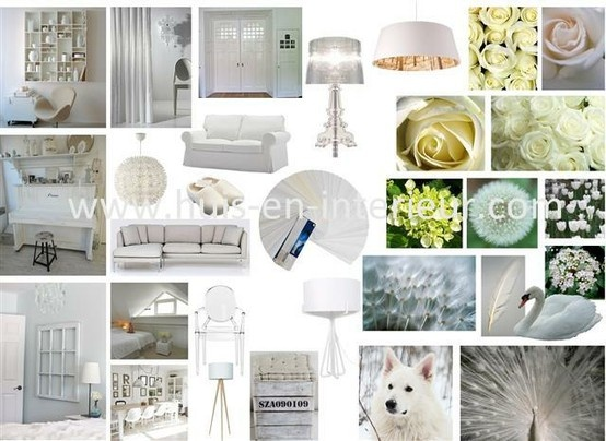 Shades of white - http://www.huis-en-interieur.com