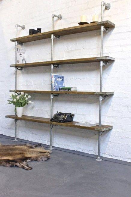Zelf jouw interieur maken met behulp van steigerbuizen, koppelingen en steigerhout!