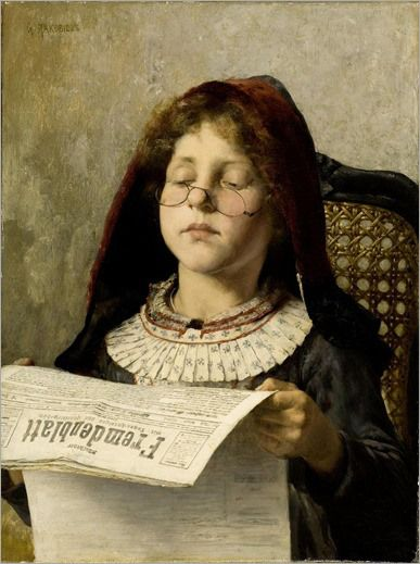 Georgios Jakobides-girl reading