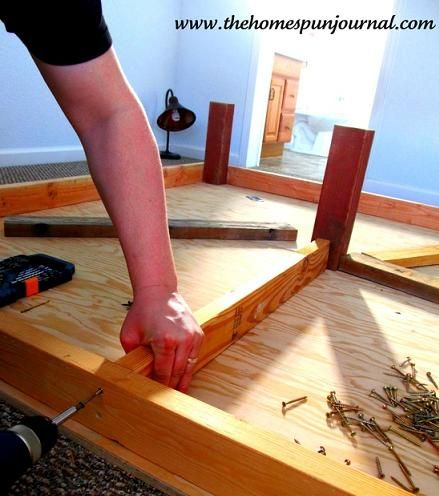 DIY King Sized Platform Bed... really good instructions, make me think I could actually do this one myself!