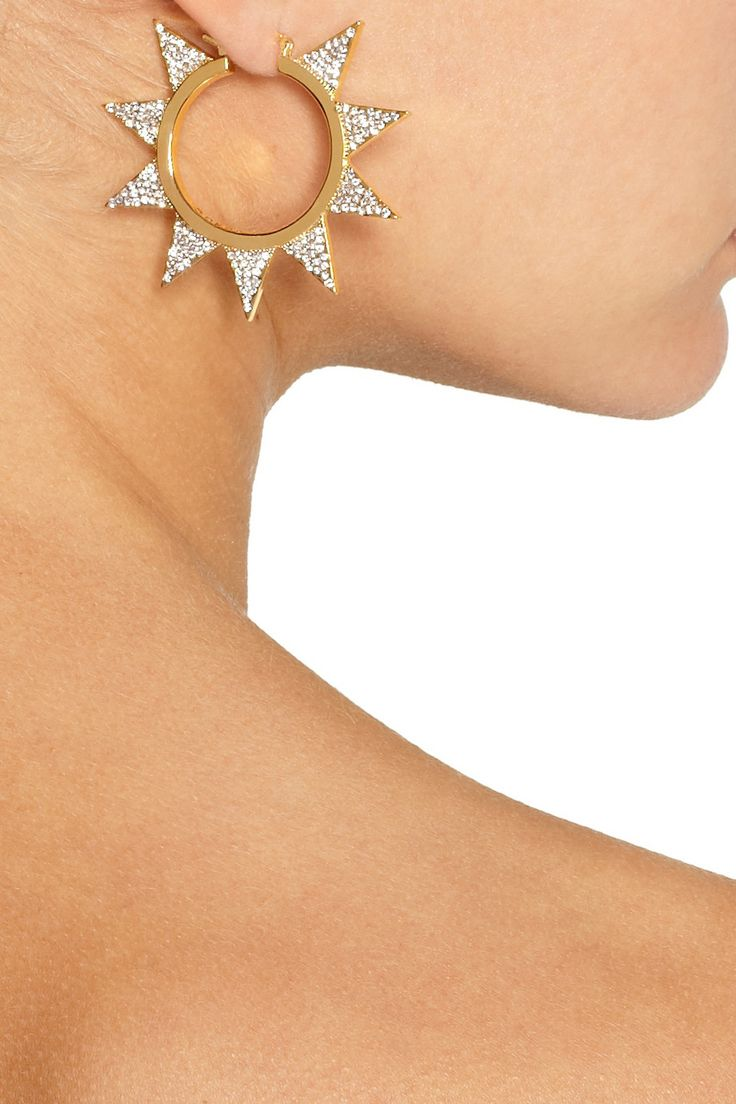 Eddie Borgo | Gold-plated cubic zirconia earrings | NET-A-PORTER.COM