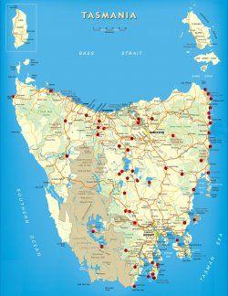 Free Camping Tasmania Map