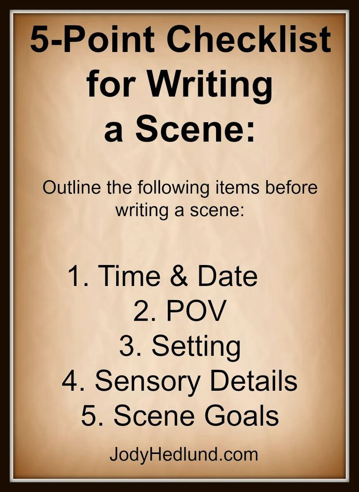 writing a climactic scene from the sixth