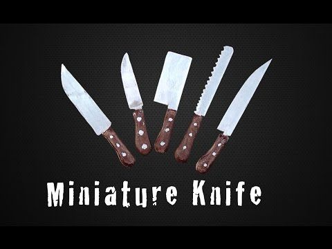 tutorial: miniature kitchen knives