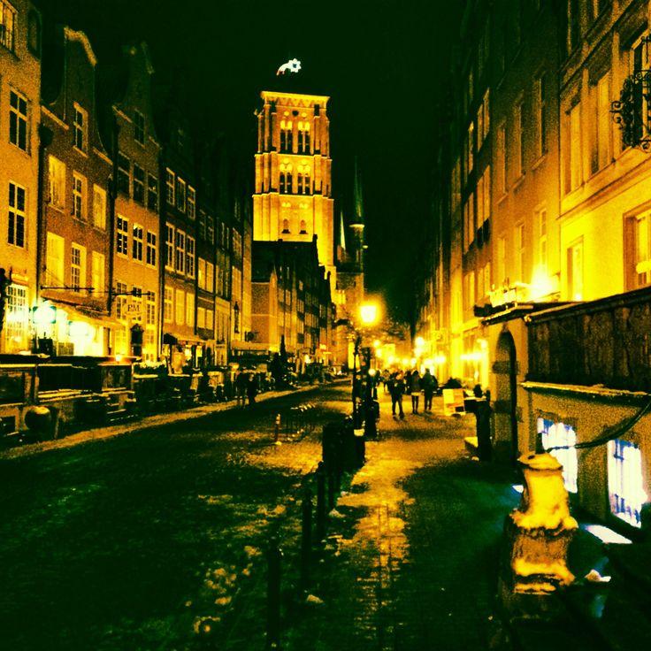 Gdańska starówka nocą