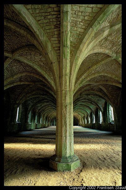 Cloister vault of Fountains Abbey, North Yorkshire, England