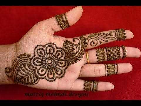0edb14f94c3 Latest Arabic Henna Designs For Hands  Simple Arabic Henna Mehndi Designs Matroj  Mehndi Designs - YouTube