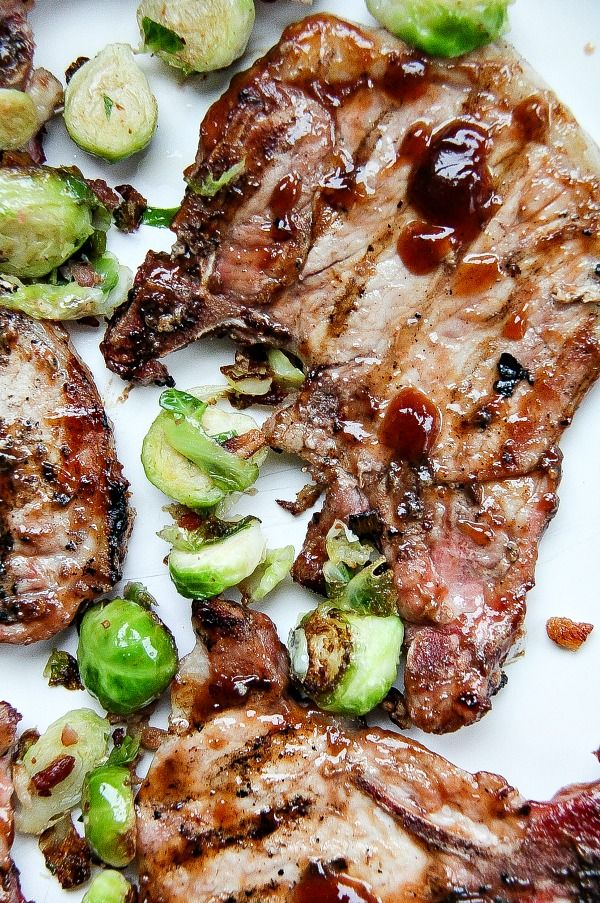 Grilled Sweet Honey Barbecue Pork Chops