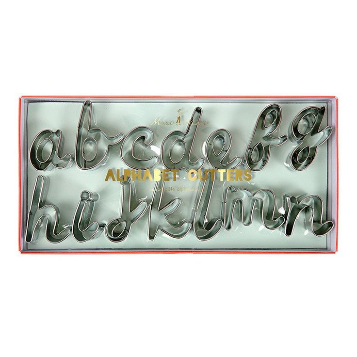 Alphabet A - Z & Cookie Cutter Set of 27 for Star Baker Gift Baking Biscuit Enthusiast Biscuiteers Gifts Stainless Steel