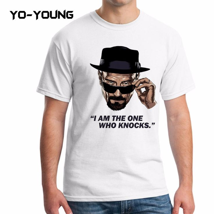 Yo-Young Men T Shirts Breaking Bad Heisenberg Game Of Thrones Printed 100% 180g Combed Cotton camisetas Brand Quality Customized