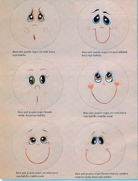 Pintura em Tecido Passo a Passo: Ideias de como pintar olhos de bonecas
