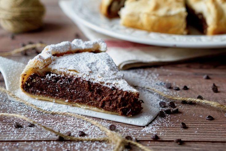 Torta+di+Sfoglia+Cioccolato+e+Ricotta