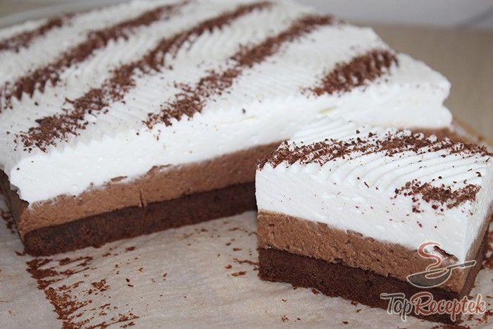 Egy kiváló kávés brownie, ami megkoronázza az étkezést. A tetején könnyű tejszínhabbal, reszelt csokoládéval díszítve. A gyerekbarát verzióból a kávé elhagyható, így a család fiatal és felnőtt tagjainak is kedveskedhetünk. Önmagában is főnyeremény, de friss gyümölccsel, esetleg vaníliafagylalttal tovább fokozható az édes élvezet.