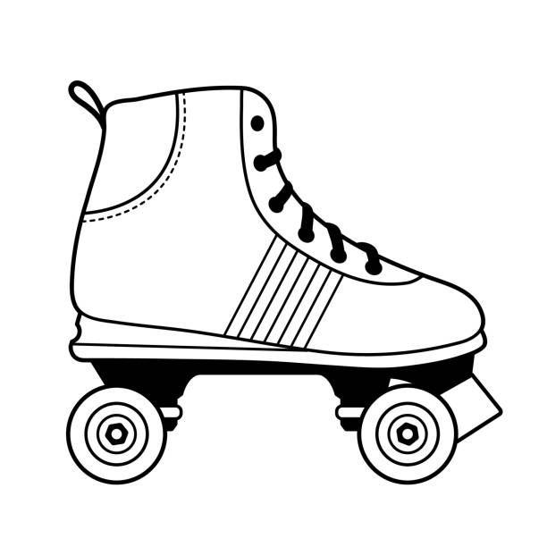 Best Roller Skating Illustrations Royalty Free Vector Graphics Clip Art Istock Retro Roller Skates White Roller Skates Roller Skating