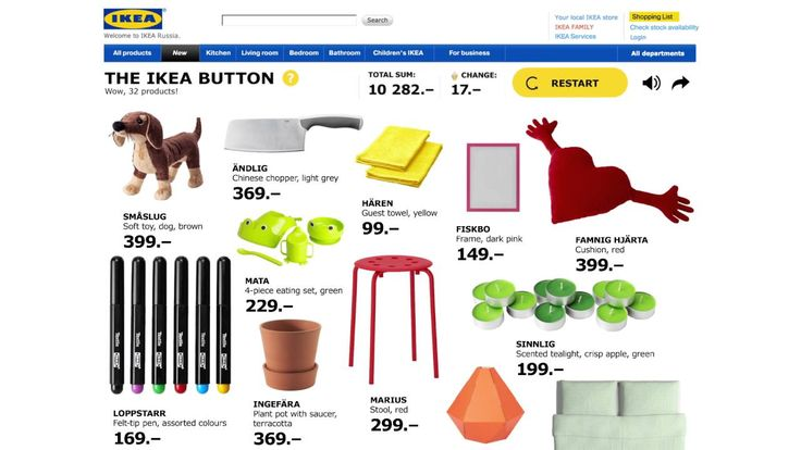 THE IKEA BUTTON - Golden Drum