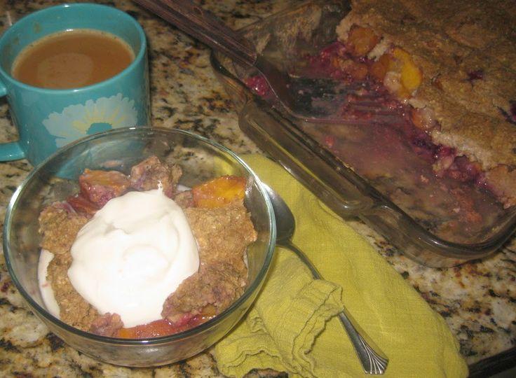 THM (E) Berry Peach Cobbler Baked Oatmeal, 9x13 pan makes 10 servings