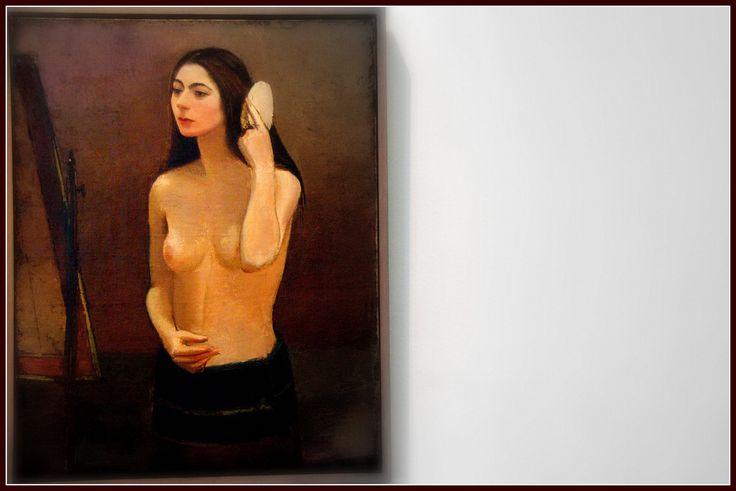Girl in front of the miror 1931 - Sergius Pauser (1896-1979) - Leopold Museum , Vienna