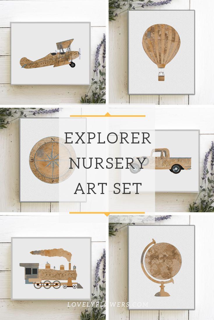 Travel Nursery Print Adventure