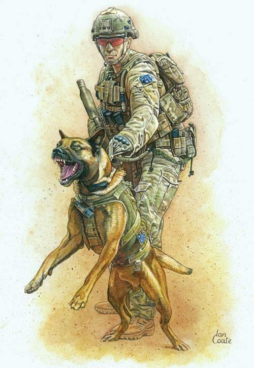 australian dog handler k9 kit pinterest war tattoo. Black Bedroom Furniture Sets. Home Design Ideas