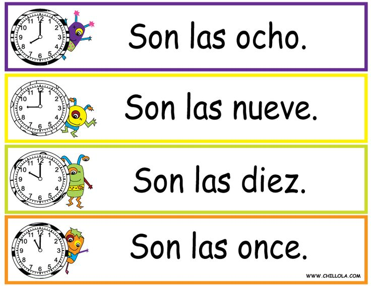 free spanish printouts for children worksheet time time in spanish available in spanish. Black Bedroom Furniture Sets. Home Design Ideas