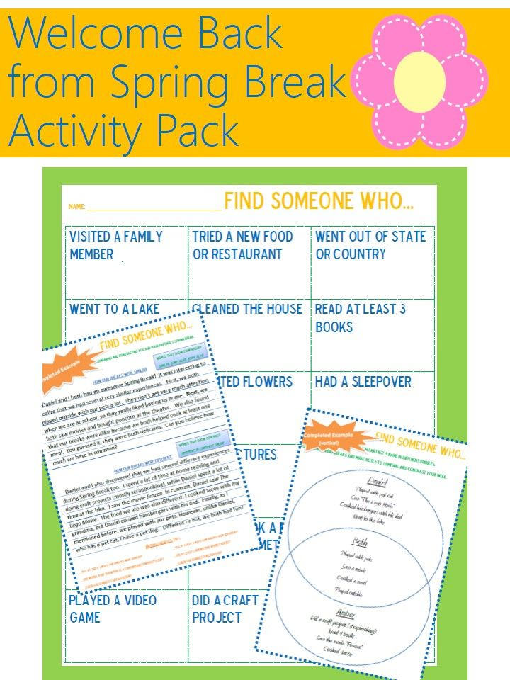 Post-Holiday Classroom Activities