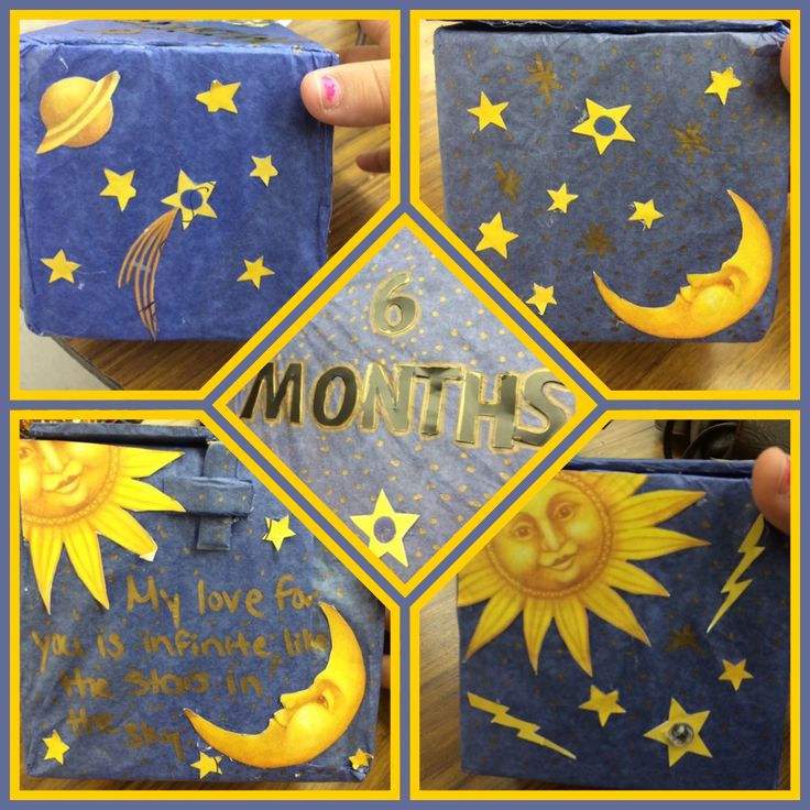 I love making decorative boxes lol, this one was for my boyfriend, celebrating our 6 months