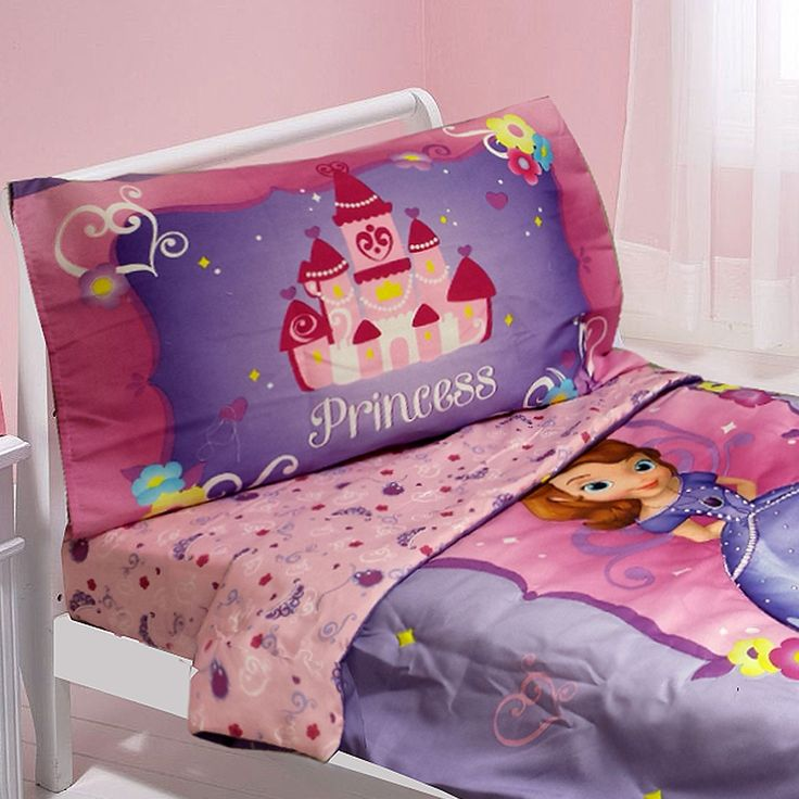 disney sofia first toddler bedding set 4pc sweet princess bed toddler size
