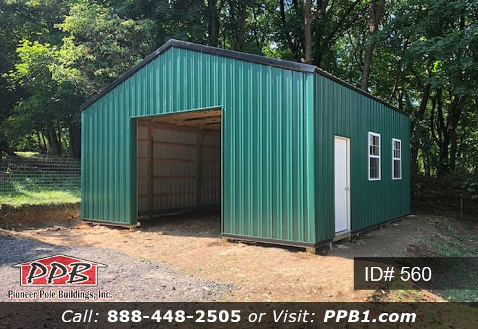 In The Woods Lays A Green Garage A Safe Place For Your Truck To Be Garage Design Barns Sheds Pole Buildings