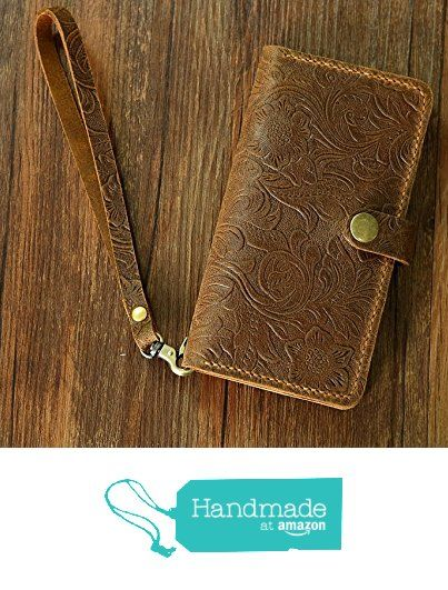 Women Vintage Brown distressed leather Wristlet GalaxyS7 Edge wallet case mobile wallet / leather Galaxy S6 edge wallet case cover GS20MW-B from D&M Leather Studio