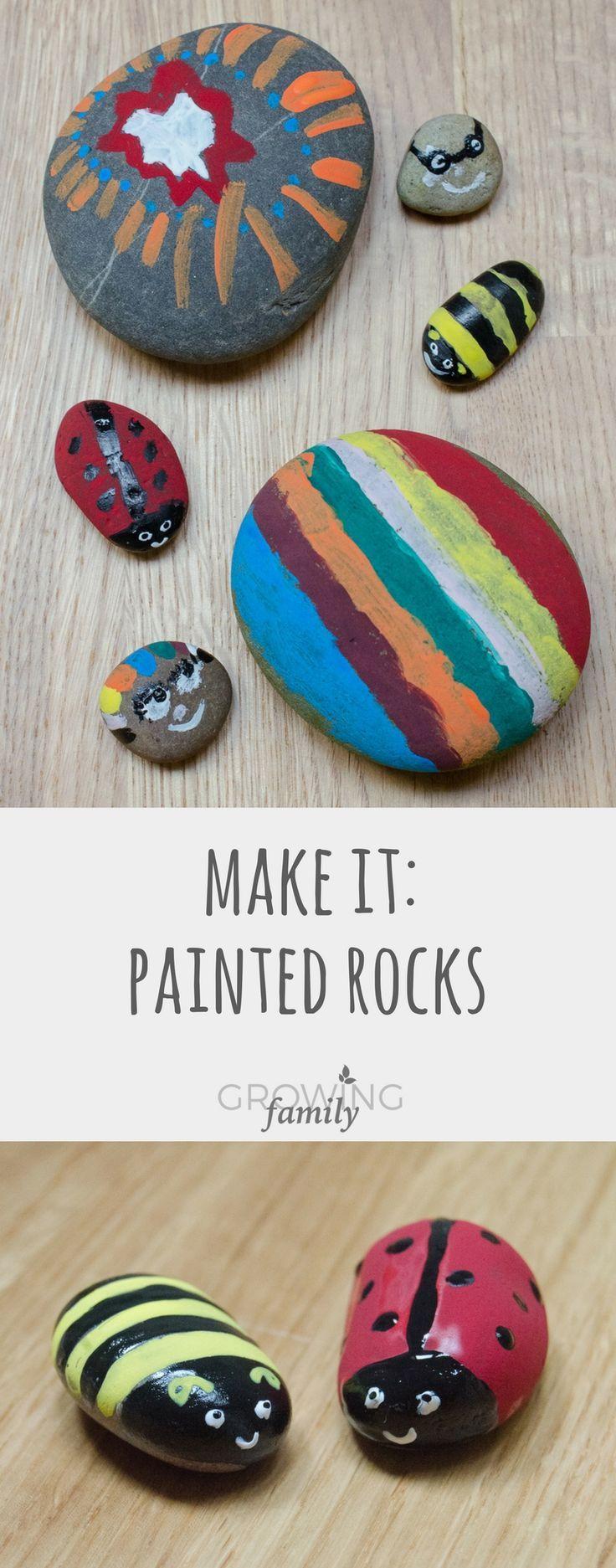 Nature craft: painted rocks