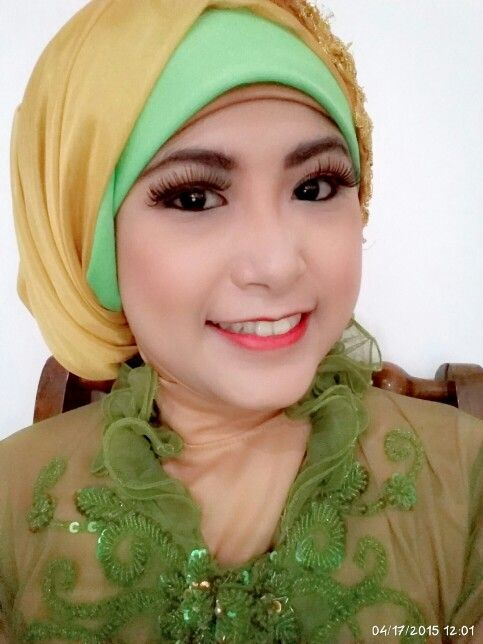 Hijab Fashion #hijab #kebaya #green #color #formal