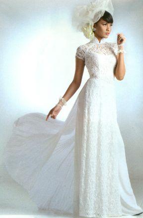 pretty ao dai for wedding day