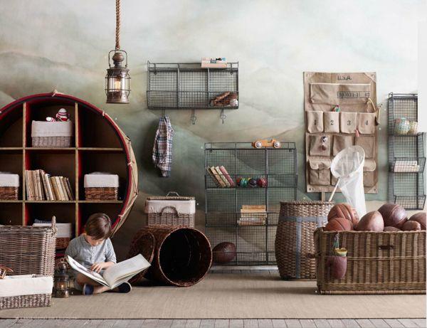 Notice wall paint Rafa-kids : Industrial storage ideas for children's room