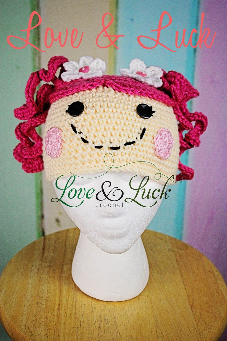 LalaLoopsy Inspired Crochet Hat with pig by LoveandLuckCrochet, $30.00