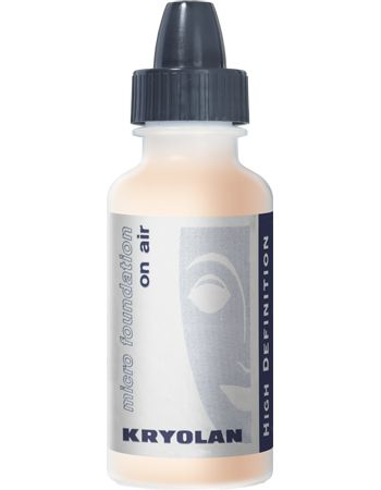 Kryolan Airbrush - HD Micro Foundation on Air 15 ml available in more than 30 colors - Airbrush Make-up #kryolan #airbrush #makeup