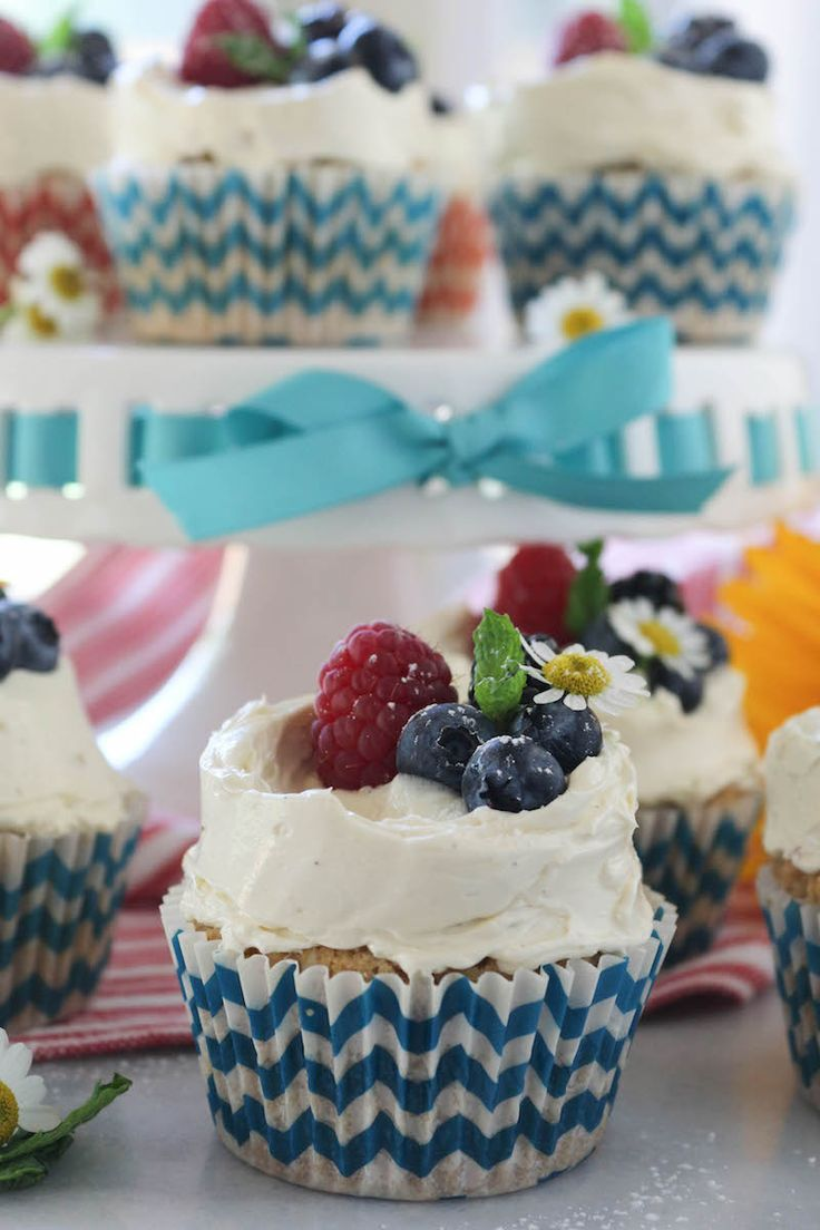 PaleOMG 4th of July Vanilla Berry Cupcakes with Vanilla Bean Pastry Buttercream