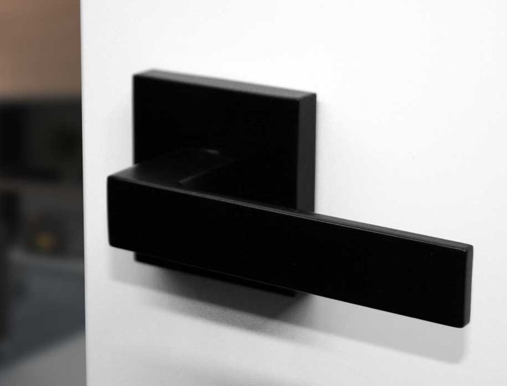 Matte black round sif door handle suits modern for Matte black kitchen doors