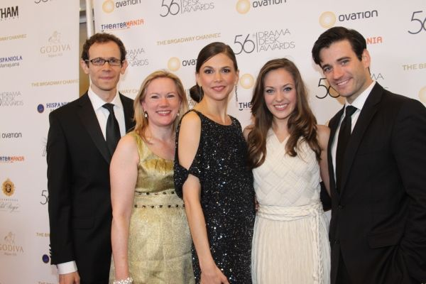 Adam Godley, Kathleen Marshall, Sutton Foster, Laura Osnes and Colin Donnell