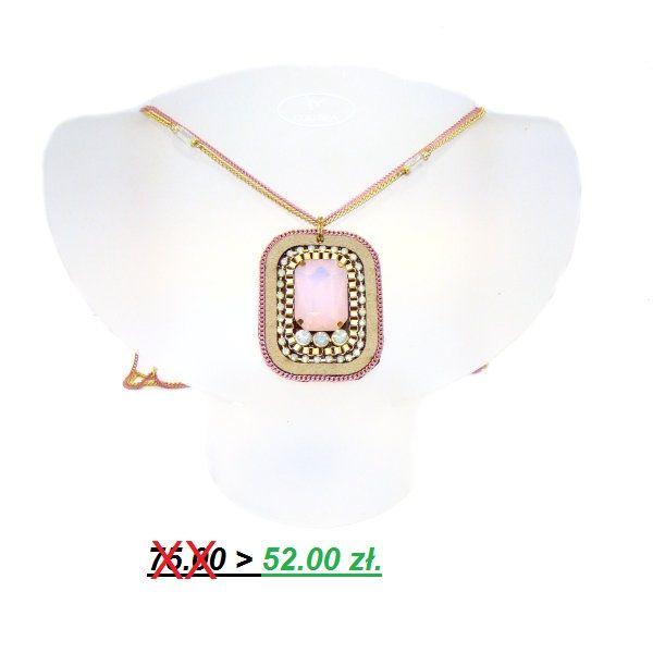 ORYGINALNY WISIOR,ciekawe połączenie skóry(zamsz) z kryształkami i metalem