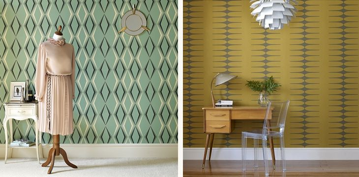design attractor: Retro Inspired Wallpapers by Graham & Brown I have put this paper in my Bathroom, stunning