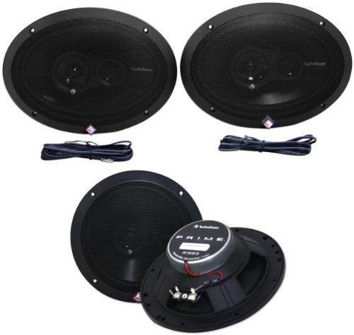 Rockford Fosgate R1693 6x9? Prime Series 3 Way 240 Watt Full-range Car Speakers. Package: Pair of Brand New Rockford Fosgate R1693 6x9 Prime Series 3 Way 240 Watt (Pair) Full-Range Car Speakers + Pair of Rockford Fosgate R1653 6.5 Prime Series 3 Way 160 Watt (Pair) Full-Range Car Speakers w/ Foam Surround.
