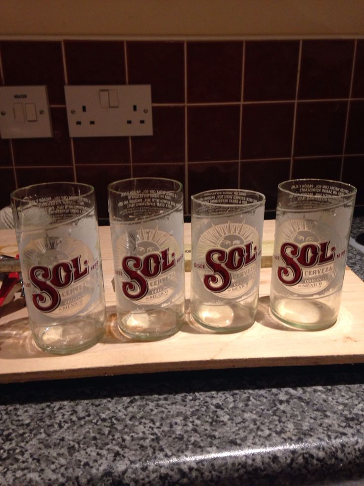 Bottle cutting - first attempt using a few different methods with varying success