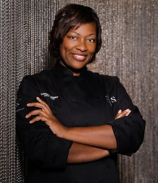 """Chef Tiffany Derry. She began working in the kitchen when she was 15 at IHOP where she learned speed, and by 17, her leadership skills in the business were evident as she became the youngest person to ever be in management there.  Tiffany Derry is an American chef based in Dallas, Texas. She is well known for her appearances on Top Chef and will be appearing regularly on Spike TV's """"Hungry Investors"""" in 2014."""